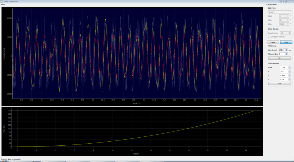 2D spectrometer software - delay calibration